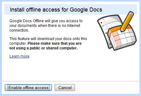 Uiteindelijk dien je offline access nog eens te activeren