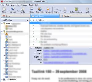 E-mails met Spicebird